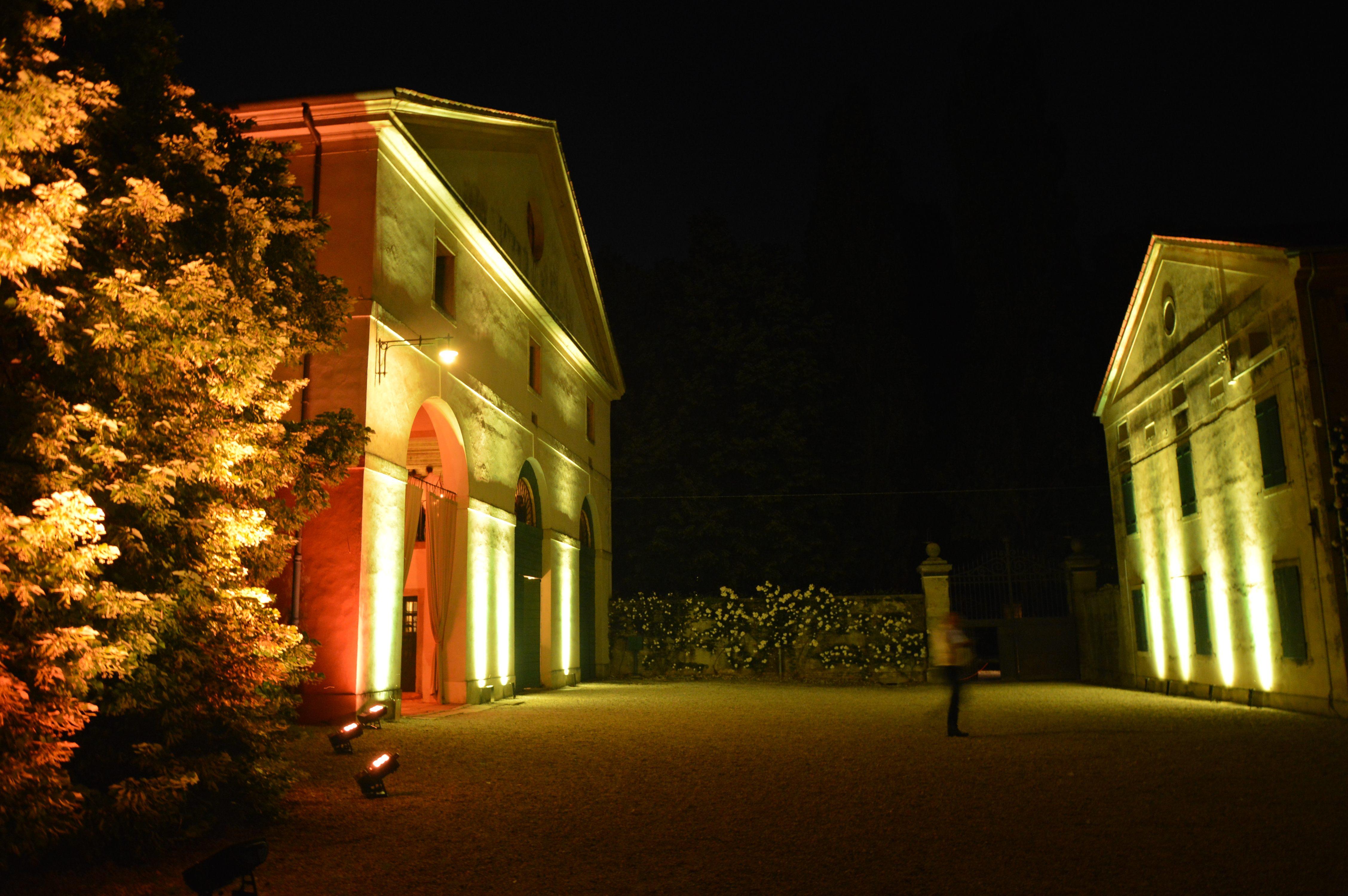 Villa brandolini dadda illuminata da tondello tecnologie tondello